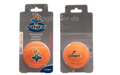 Orange-farbener Rogz Hundeball inkl. Umverpackung