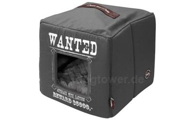 Hundebett Cube Wanted, grau
