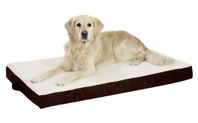 Hundematratze Ortho Bed, eckig, braun