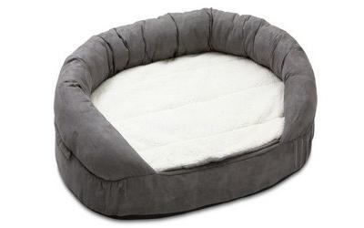 Hunde- Liegebett Ortho Bed, oval, grau