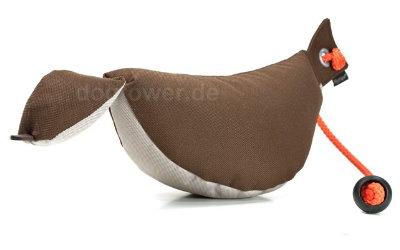 Mystique Bird Dummy, braun/beige, inkl. Kordel