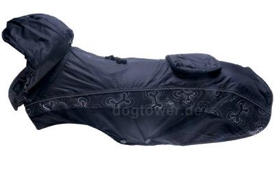 Rainskin in schwarz mit Kapuze