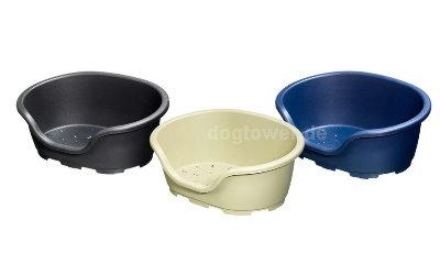 Kunststoffkorb, erhältlich in drei Farben