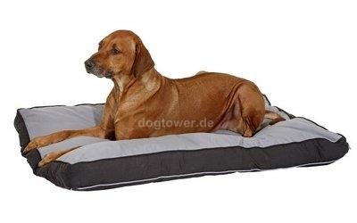 Hundeliegekissen Doc Bed, eckig, grau-schwarz