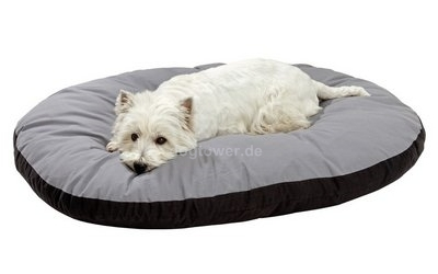 Hundeliegekissen Doc Bed, oval, grau-schwarz
