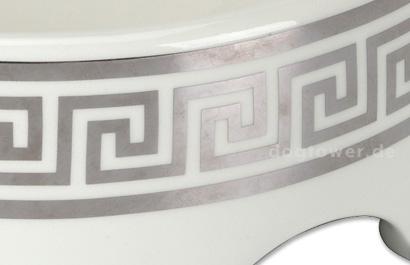 Weiss/Silber Hundenapf Classic