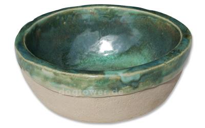 Gruby Keramiknapf, opal-grün
