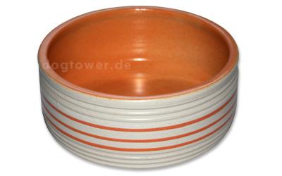 Hundenapf Kringel, orange
