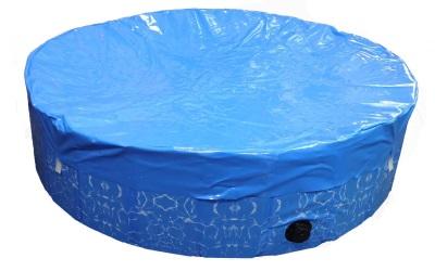 Hundepool inklusive Abdeckung, blau