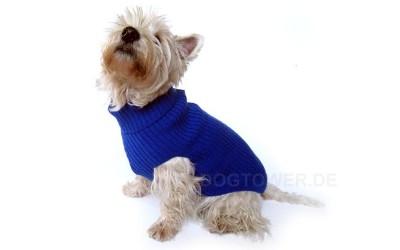 Hundepullover blau, aus Wolle