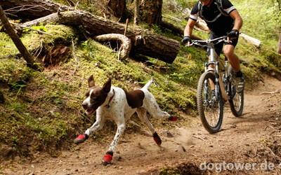 Ruffwear Hundeschuhe z.B. für Fahrrad fahren