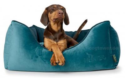 Hundesofa Bristol S inpetrol/terracotta