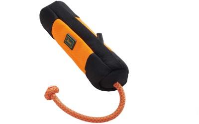 Hunter Trainer Snack Dummy mit Seil orange/schwarz