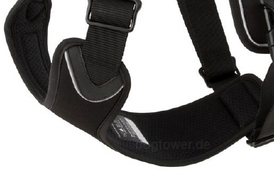 Hurtta Active Harness in black, Schild im Inneren