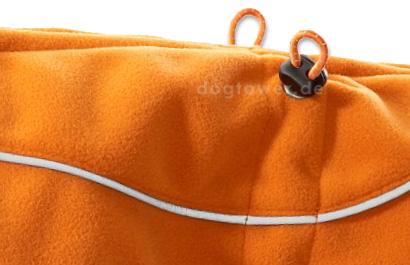 High Tech Fleece Jacke, orange