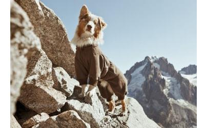 Fleece Overall, braun