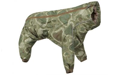 Hurtta Hundeoverall Downpour Suit, camouflage/grün