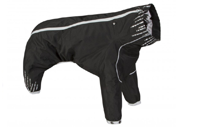 Hurtta Hundeoverall Downpour Suit, schwarz