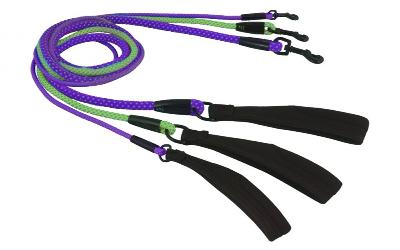 Hurtta Lifeguard Dazzle Seil-Leine, kiwi und violett