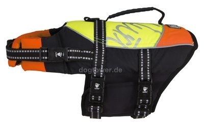Hurtta Lifeguard Schwimmweste, gelb/orange