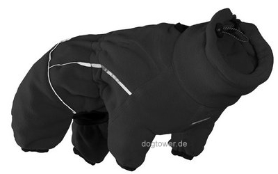 Hurtta Microfleece Hundeoverall, schwarz