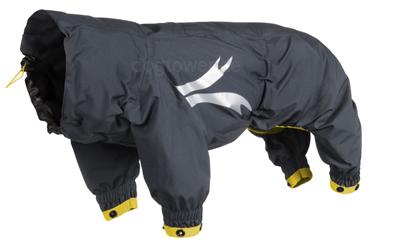 Hurtta Outdooroverall Slush Combat Suit, granit/ockergelb