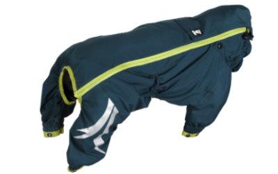 Overall auf dem Rücken seitlich mit Reißverschluß verschließbar