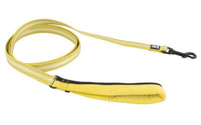 Hurtta Soft Grip Reflective Leash, gelb