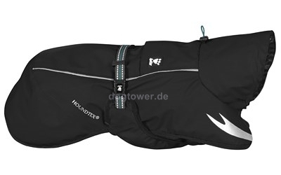 Hurtta Regenmantel Torrent Coat, schwarz