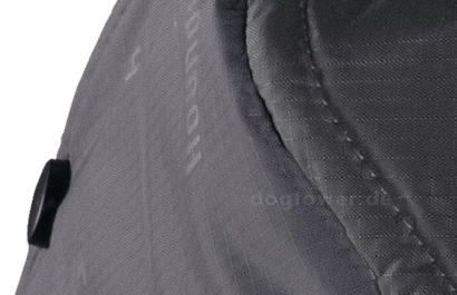 Druckknopf zur Verkleinerung des Mantels im hinteren Bereich