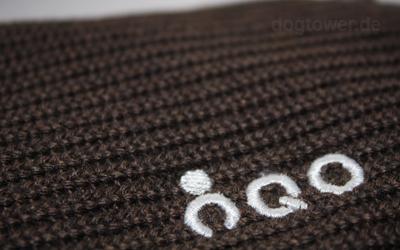 IQO Stickerei auf der Strickjacke (Farbe: braun/meliert)
