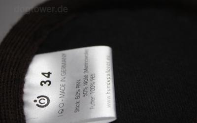 IQO Hunde Strickjacke für kalte Herbst- & Wintertage (Farbe: braun/meliert)