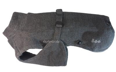 IQO Hunde- Strickjacke SW granit, dreilagig