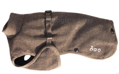IQO Hunde- Strickjacke SW tabac, dreilagig