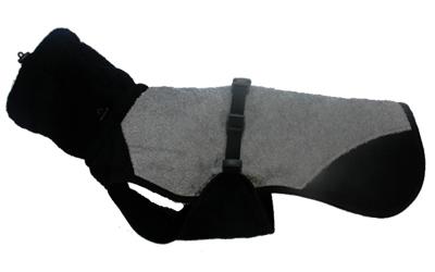 iqo Hundebademantel Pitschnass, granit/schwarz