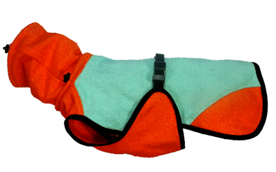 iqo Hundebademantel Pitschnass, mint/orange