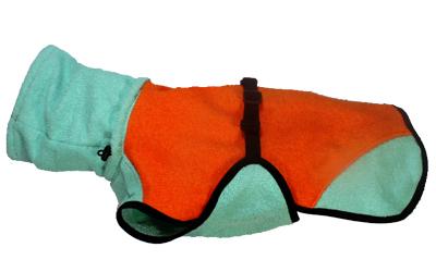 iqo Hundebademantel Pitschnass, orange/mint