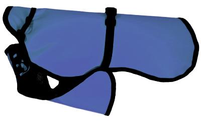 iqo Hundejacke Regenguss PLUS (+ Mesh-Innenseite), blau