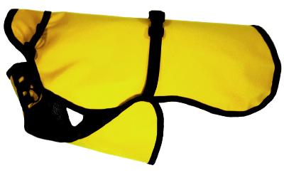 iqo Hundejacke Regenguss (leichte, ungefütterte Jacke), gelb
