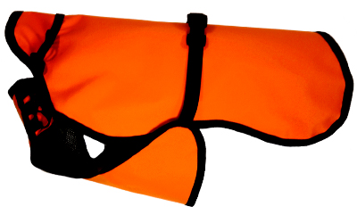 iqo Hundejacke Regenguss (leichte, ungefütterte Jacke), orange
