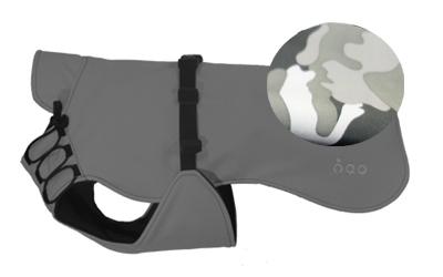 iqo Hundemantel Wintertraum (inkl. Wattierung und Innenfleece), camouflage grau/schwarz