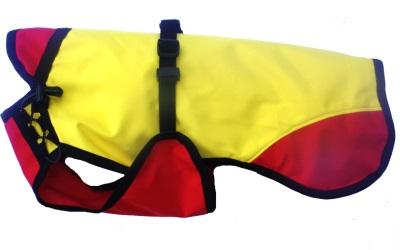 iqo Regenjacke gelb/rot (Meshgewebe im Inneren)