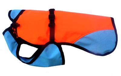iqo Regenjacke orange/türkis (Meshgewebe im Inneren)
