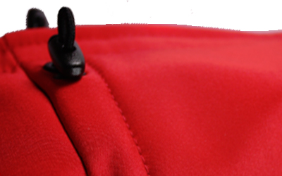 Beidseitig im Brustkorbbereich individuell einstellbar + kürzbar (ROT)