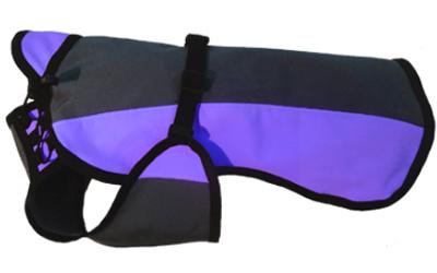 IQO Softshell Regenmantel, granit/violett