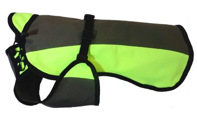 IQO Softshell Regenmantel Marking, oliv/neongelb