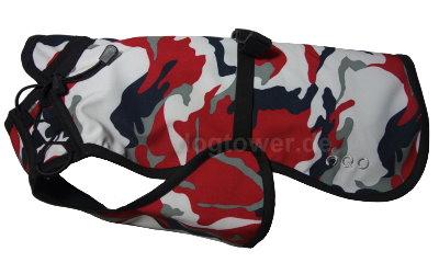 IQO VX Hundemantel, camouflage (rot/schwarz/weiss)