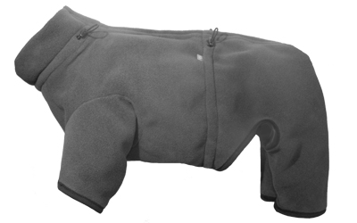 IQO Thermo-Fleece Hundeoverall, granit
