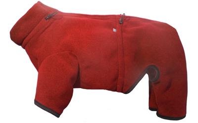 IQO Thermo-Fleece Hundeoverall, rot