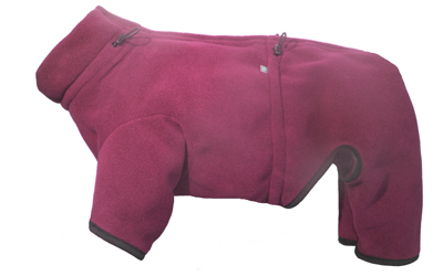 iqo XW Thermo-Fleece Hundeoverall, bordeaux